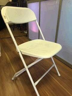 Where to find CHAIR, White Folding in Medford