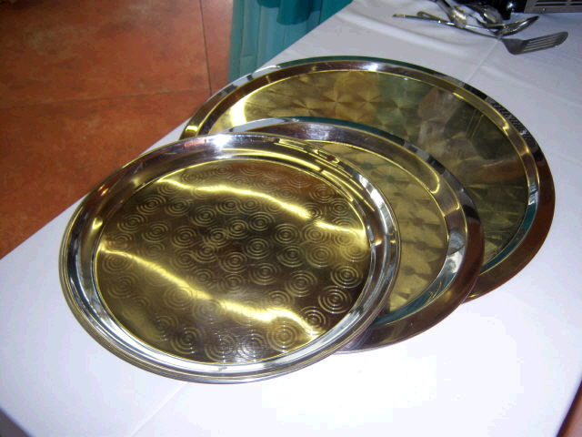 Where to find TRAY, 18  ROUND SILVER in Medford