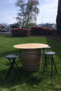Where to find WINE BARREL 4  TABLE TOP in Medford