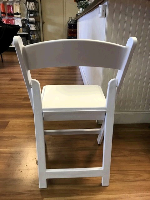 Where to find CHAIR,1st Season White Padded Resin in Medford