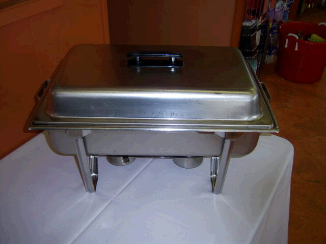 Where to find Chafer Rectangle 6qt Brushed Aluminum in Medford
